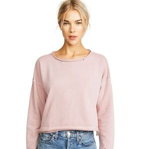 AMO Boxy Cropped Sweatshirt Dusty Rose